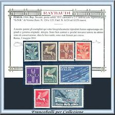 1944 Italia RSI G.N.R. Posta Aerea Certificato Raybaudi Nuovi Integri ** GNR
