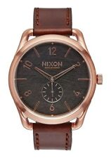 NEW NIXON C45 LEATHER ROSE GOLD/ BROWN A465 1890