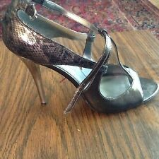 Guess by Marciano Shoes Strappy Heels 8M Black & Silver