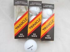 3 NOS 3-ball sleeves Pinnacle 100 White golf balls