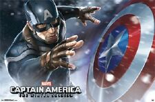 2014 MARVEL COMICS CAPTAIN AMERICA THE WINTER SOLDIER SHIELD POSTER 22x34 NEW