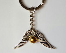 Harry Potter Golden Snitch Wing Golden Quidditch Pendant Necklace Unique Gift