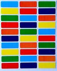 RECTANGULAR COLOR CODING LABELS - 6 COLORS IDEAL FOR BOTTLES 360 PACK STICKERS