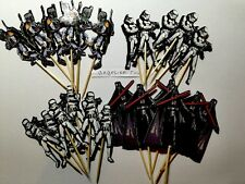 12 x Star Wars Cake Picks/Cupcake Toppers Kids Birthday Party Decoration #642122