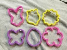 Kitchen Easter Spring Cookie Cutters 6PK Fondant Bunny Flower Egg Butterfly