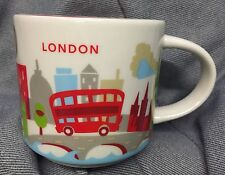 Starbucks London Mug YAH Bus Big Ben Tower Bridge Cup You Are Here England UK