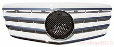 Front Grille Mercedes Benz W211 E-Class 2007-2009 Chrome & White E63 AMG E350