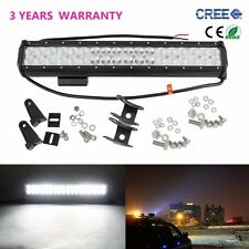 108W 17inch CREE LED Work Light Bar Flood Spot Combo Offroad 4X4 Jeep SUV Lamp
