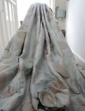 Laura Ashley Cortinas 100% Seda Erin Shabby Chic Duckegg Interlined & B/Rara