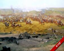 BATTLE OF BORODINO PAINTING NAPOLEON VS RUSSIAN ARMY WAR ART REAL CANVAS PRINT