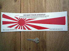 Japanese Flag HELMET VISOR SUNSTRIP Sticker Race Rally Car Bike Japan Navy Honda
