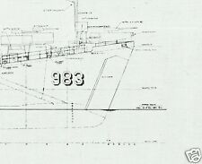 LANDING SHIP TANK BLUEPRINT PLANS LST WW2 D-DAY RARE DETAIL ARCHIVE DRAWINGS