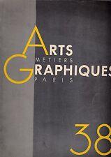 REVUE ARTS et METIERS GRAPHIQUES ,PARIS N° 38 (1933)