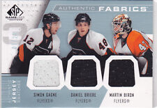 2007 07-08 SP Game Used Authentic Fabrics Triples S.Gagne/D.Briere/M.Biron 5/25