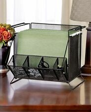Black Mesh Desktop File Document Organizer Tray Supply Office Desk Storage Rack