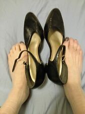 Well Worn Vintage Women's Mary Jane Shoes Black Patent Leather Size 10 Anoymous