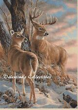 Counted Cross Stitch DEER IN WINTER SCENE - COMPLETE KIT  #2-312