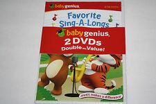 Baby Genius 2 DVD Set - Favorite Children Songs and Sing-A-Longs-SEALED