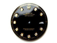 Men's Rolex Datejust Non-Quickset 1601 Black Color with Diamond Dial