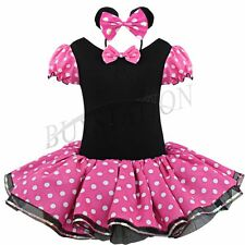 Baby Flower Girl Toddler Minnie Mouse Party Costume Ballet Tutu Dress+Headband2T
