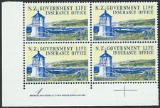 NEW ZEALAND 1969 Lighthouse 2½c plate block # 1 1 MNH......................50196