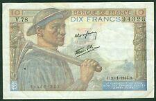 10 FRANCS MINEUR du  20-1-1944  ETAT:  TTB  N° V78 94323