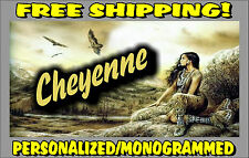 Personalized Monogrammed Custom License Plate Auto Car Tag Native American