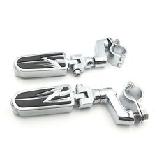 "Front Offset mount 1.5"" Highway Radical Flame Foot Pegs Clamps For Honda GoldWin"