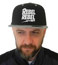 Hat Rebel rebel, SnapBack Cap Rock black with visor grey, David Bowie