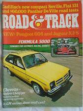 Road & Track Oct 1975 Panther De Ville, Fiat 131