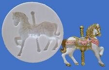 6.5cm CAROUSEL HORSE SILICONE MOULD FOR CAKE TOPPERS, CHOCOLATE, CLAY ETC