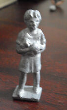 """Vintage Lead Girl Holding Puppy Dog Figurine 2"""" Tall"""