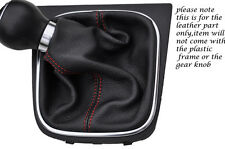 RED STITCHING FITS VW SCIROCCO 2008-2013+ LEATHER GEAR GAITER ONLY