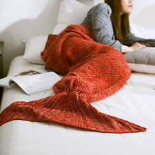 1Pc Mermaid Tail Knitting Blanket and Cashmere Blend Blanket Mermaid Tail