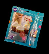 Wilton SHOT TOPS Cupcake Recipe Book Infuser Set Cocktail Alcohol Party Desert