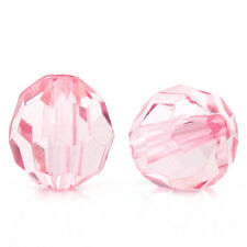 "400 PCs Acrylic Spacer Beads Faceted Lantern Pink 10mmx9mm(3/8""x3/8"")"