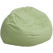Flash Furniture DG-BEAN-LARGE-DOT-GRN-GG Oversized Green Dot Bean Bag Chair NEW