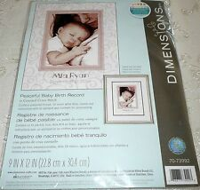 "Dimensions Counted Cross Stitch Kit PEACEFUL BABY BIRTH RECORD 9"" x 12"""
