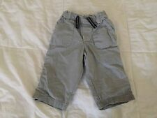 H&M Baby Boy Pants US 6-9 months old white, blue checkers