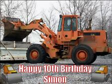 A4 JCB DIGGER BIRTHDAY PARTY CAKE TOPPERS PERSONALISED ON EDIBLE RICE PAPER