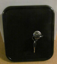 Universal Valterra BLACK Gravity Water Hatch Fill Dish Lock Keys RV Trailer