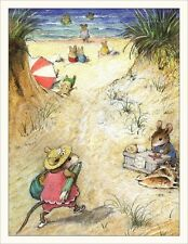 Wee Forest Folk Note#13- Beach Note Cards Set of 6