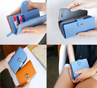 Hot Fresh 6 Colors Leather Envelope Wallet Case Purse Samsung Galaxy Iphone 4 4S