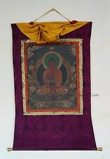 "50"" x 37.75"" Amitabha Buddha Tibetan Buddhist Thangka Scroll Painting Nepal"