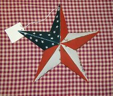 "Rustic Primitive RUSTY Tin 8"" Distressed AMERICANA Barn Star Country Farmhouse"