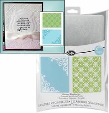 Sizzix embossing folders CORNERS & LATTICE embossing folder set 656979