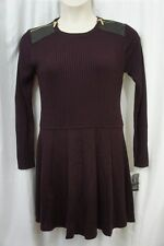 INC International Concepts Dress Sz L Cranberry Business Casual Sweater Dress