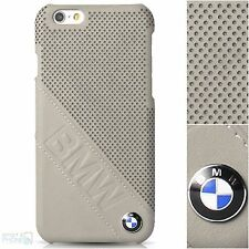BMW vera pelle perforata iPhone 6, 6s Hard Case Cover Posteriore Custodia Protettiva Borsa