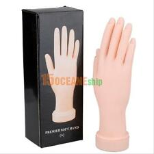 Nail Art Practice Soft Plastic Hand Model  Hand Training Tool Nail Salon Display