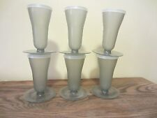 Vintage Tupperware Dessert Parfait Cups Smokey Gray Set of 6 with Lids